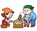 園児作品展 2月 おもちつき大会(もも組)